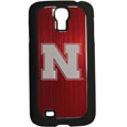 Nebraska Cornhuskers Etched Samsung Galaxy S4 Case - This ultra cool hard shell snap on case provides great protection for the phone while the soft rubber finish adds to your grip to help prevent dropping the phone. This stylish case is finished off with a brushed metal team plate with laser etched Nebraska Cornhuskers team logo. Thank you for shopping with CrazedOutSports.com