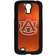 Auburn Tigers Etched Samsung Galaxy S4 Case - This ultra cool hard shell snap on case provides great protection for the phone while the soft rubber finish adds to your grip to help prevent dropping the phone. This stylish case is finished off with a brushed metal team plate with laser etched Auburn Tigers team logo. Thank you for shopping with CrazedOutSports.com