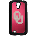 Oklahoma Sooners Etched Samsung Galaxy S4 Case - This ultra cool hard shell snap on case provides great protection for the phone while the soft rubber finish adds to your grip to help prevent dropping the phone. This stylish case is finished off with a brushed metal team plate with laser etched Oklahoma Sooners team logo. Thank you for shopping with CrazedOutSports.com