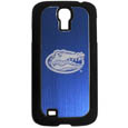 Florida Gators Etched Samsung Galaxy S4 Case - This ultra cool hard shell snap on Florida Gators case provides great protection for the phone while the soft rubber finish adds to your grip to help prevent dropping the phone. This stylish case is finished off with a brushed metal team plate with laser etched Florida Gators team logo. Thank you for shopping with CrazedOutSports.com
