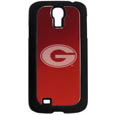 Georgia Bulldogs Etched Samsung Galaxy S4 Case - This ultra cool hard shell Georgia Bulldogs Etched Samsung Galaxy S4 snap on case provides great protection for the phone while the soft rubber finish adds to your grip to help prevent dropping the phone. This stylish case is finished off with a brushed metal team plate with laser etched Georgia Bulldogs team logo. Thank you for shopping with CrazedOutSports.com