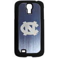 N. Carolina Tar Heels Etched Samsung Galaxy S4 Case - This ultra cool hard shell snap on case provides great protection for the phone while the soft rubber finish adds to your grip to help prevent dropping the phone. This stylish case is finished off with a brushed metal team plate with laser etched N. Carolina Tar Heels team logo. Thank you for shopping with CrazedOutSports.com