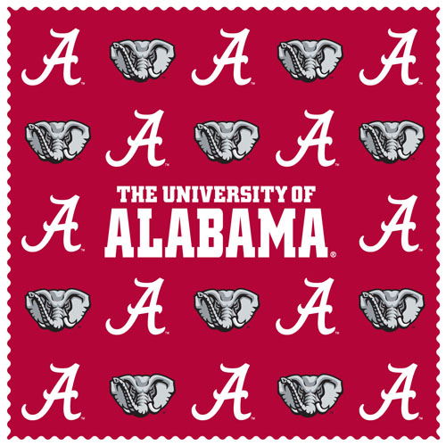 "Alabama Crimson Tide Sunglass Microfiber Cleaning Cloth - Our collegiate sunglass cleaning cloth is a 6.75"" square microfiber cloth that is perfect for keeping your sunglass free of dirt, oil, residue and smudges. The set includes 2 clothes with Alabama Crimson Tide team logo pattern.  Thank you for shopping with CrazedOutSports.com"