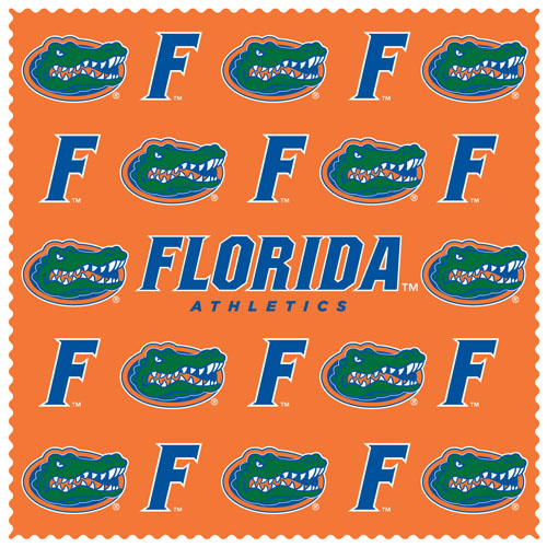 "Florida Gators Sunglass Microfiber Cleaning Cloth - Our collegiate Florida Gators sunglass cleaning cloth is a 6.75"" square microfiber cloth that is perfect for keeping your sunglass free of dirt, oil, residue and smudges. The set includes 2 clothes with Florida Gators logo pattern.  Thank you for shopping with CrazedOutSports.com"