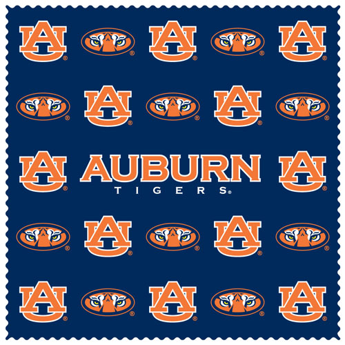 "Auburn Tigers Sunglass Microfiber Cleaning Cloth - Our collegiate sunglass cleaning cloth is a 6.75"" square microfiber cloth that is perfect for keeping your sunglass free of dirt, oil, residue and smudges. The set includes 2 clothes with Auburn Tigers team logo pattern.  Thank you for shopping with CrazedOutSports.com"