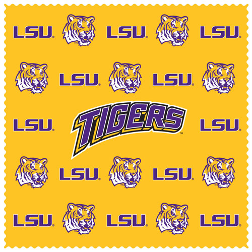 "- This LSU Tigers collegiate sunglass cleaning cloth is a 6.75"" square microfiber cloth that is perfect for keeping your sunglass free of dirt, oil, residue and smudges. The LSU Tigers Sunglass Microfiber Cleaning Cloth set includes 2 clothes with team logo pattern.  Thank you for shopping with CrazedOutSports.com"