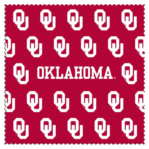 "Oklahoma Sunglass Microfiber Cleaning Cloth - Our collegiate sunglass cleaning cloth is a 6.75"" square microfiber cloth that is perfect for keeping your sunglass free of dirt, oil, residue and smudges. The set includes 2 clothes with team logo pattern.  Thank you for shopping with CrazedOutSports.com"