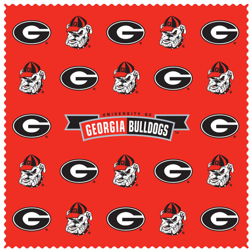 "Georgia Bulldogs iPad Microfiber Cleaning Cloth - This Georgia Bulldogs collegiate sunglass cleaning cloth is a 6.75"" square microfiber cloth that is perfect for keeping your sunglass free of dirt, oil, residue and smudges. The Georgia Bulldogs iPad Microfiber Cleaning Cloth set includes 2 clothes with team logo pattern.  Thank you for shopping with CrazedOutSports.com"
