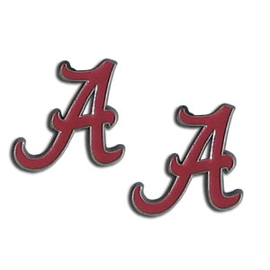 Alabama Crimson Tide Earrings - Our  college studded earrings are sculpted and enameled. Check out our entire line of  collegiate jewelry! Thank you for shopping with CrazedOutSports.com