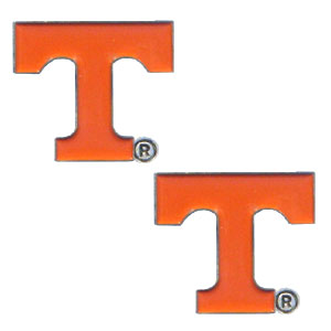 Tennessee Volunteers Earrings - Our  college studded earrings are sculpted and enameled. Check out our entire line of  collegiate jewelry! Thank you for shopping with CrazedOutSports.com