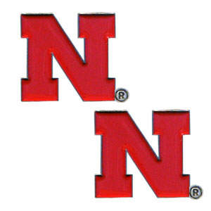 Nebraska Cornhuskers Earrings - Our  college studded earrings are sculpted and enameled. Check out our entire line of  collegiate jewelry! Thank you for shopping with CrazedOutSports.com