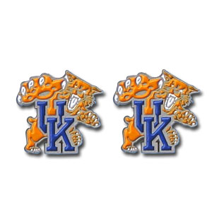 Kentucky Wildcats Earrings - Our  college studded earrings are sculpted and enameled. Check out our entire line of  collegiate jewelry! Thank you for shopping with CrazedOutSports.com