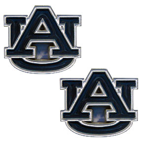 Auburn Tigers Earrings - Our college studded earrings are sculpted and enameled. Check out our entire line of  Auburn Tigers collegiate jewelry! Thank you for shopping with CrazedOutSports.com