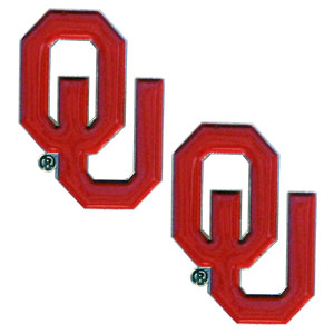 Oklahoma Sooners Earrings - Our  college studded earrings are sculpted and enameled. Check out our entire line of  collegiate jewelry! Thank you for shopping with CrazedOutSports.com