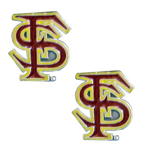 Florida St. Seminoles Earrings - Our  college studded earrings are sculpted and enameled. Check out our entire line of  collegiate jewelry! Thank you for shopping with CrazedOutSports.com