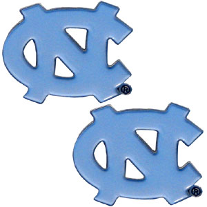 N. Carolina Tar Heels Earrings - Our  college studded earrings are sculpted and enameled. Check out our entire line of  collegiate jewelry! Thank you for shopping with CrazedOutSports.com