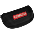 Arkansas Razorbacks Hard Shell Glasses Case - These Arkansas Razorbacks hard sunglass cases are a great way to protect your sunglasses. The hard molded shell protects the glasses from being crushed or damaged from dropping. The zippered closure prevents accidental opening and the soft lining protects the lenses from scratches. Thank you for shopping with CrazedOutSports.com