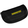 Iowa Hawkeyes Hard Shell Glasses Case - Our Iowa Hawkeyes hard sunglass cases are a great way to protect your sunglasses. The hard molded shell protects the glasses from being crushed or damaged from dropping. The zippered closure prevents accidental opening and the soft lining protects the lenses from scratches. Thank you for shopping with CrazedOutSports.com