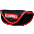 Arkansas Razorbacks Soft Sport Glasses Case - Our officially licensed Arkansas Razorbacks soft sport glasses case has microfiber interior to prevent scratches and a velcro closure to secure the glasses. The sporty mesh material and colorful logo finishes off this fashionable and functional case. Thank you for shopping with CrazedOutSports.com