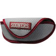 Oklahoma Sooners Soft Sport Glasses Case - Our officially licensed Oklahoma Sooners soft sport glasses case has microfiber interior to prevent scratches and a velcro closure to secure the glasses. The sporty mesh material and colorful logo finishes off this fashionable and functional case. Thank you for shopping with CrazedOutSports.com