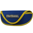 W. Virginia Mountaineers Soft Sport Glasses Case - Our officially licensed W. Virginia Mountaineers soft sport glasses case has microfiber interior to prevent scratches and a velcro closure to secure the glasses. The sporty mesh material and colorful logo finishes off this fashionable and functional case. Thank you for shopping with CrazedOutSports.com