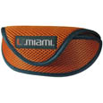 Miami Hurricanes Soft Sport Glasses Case - This officially licensed Miami Hurricanes soft sport glasses case has microfiber interior to prevent scratches and a velcro closure to secure the glasses. The sporty mesh material and colorful logo finishes off this fashionable and functional Miami Hurricanes Soft Sport Glasses Case. Thank you for shopping with CrazedOutSports.com