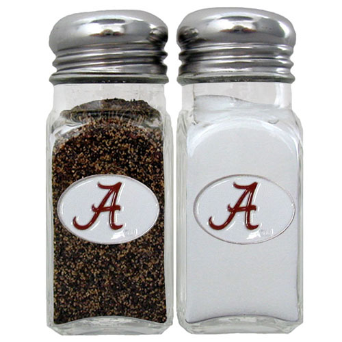 Salt & Pepper Shakers - Alabama Crimson Tide - Our Alabama Crimson Tide collegiate salt and pepper set is a great addition to any tailgating event or backyard BBQ. Thank you for shopping with CrazedOutSports.com