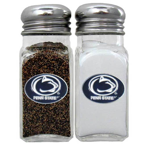 Salt & Pepper Shakers - Penn St. Nittany Lions - Our collegiate salt and pepper set is a great addition to any tailgating event or backyard BBQ. Thank you for shopping with CrazedOutSports.com