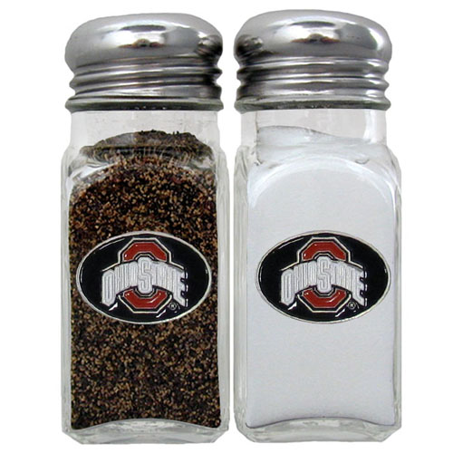 Salt & Pepper Shakers - Ohio St. Buckeyes - Our collegiate salt and pepper set is a great addition to any tailgating event or backyard BBQ. Thank you for shopping with CrazedOutSports.com