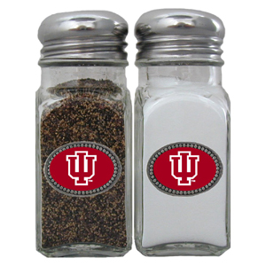 Salt & Pepper Shakers - Indiana Hoosiers - This Indiana Hoosiers collegiate salt and pepper set is a great addition to any tailgating event or backyard BBQ. Thank you for shopping with CrazedOutSports.com