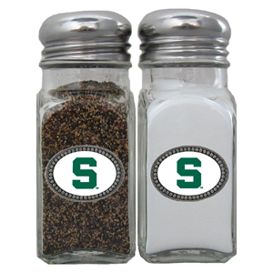 Michigan St. Spartans Salt and Pepper Shaker Set - Our collegiate salt and pepper set is a great addition to any tailgating event or backyard BBQ. Thank you for shopping with CrazedOutSports.com