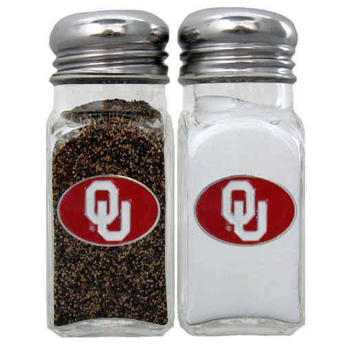 Salt & Pepper Shakers - Oklahoma Sooners - Our collegiate salt and pepper set is a great addition to any tailgating event or backyard BBQ. Thank you for shopping with CrazedOutSports.com