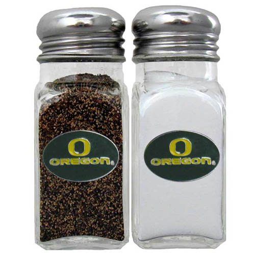 Oregon Salt and Pepper Shakers - Our collegiate salt and pepper set is a great addition to any tailgating event or backyard BBQ. Thank you for shopping with CrazedOutSports.com