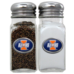 Salt & Pepper Shakers - Illinois Fighting Illini - This collegiate Illinois Fighting Illini salt and pepper set is a great addition to any tailgating event or backyard BBQ. Thank you for shopping with CrazedOutSports.com
