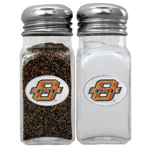 Salt & Pepper Shakers - Oklahoma St. Cowboys - Our collegiate salt and pepper set is a great addition to any tailgating event or backyard BBQ. Thank you for shopping with CrazedOutSports.com