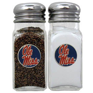 Mississippi Salt and Pepper Shakers - Our diner relica glass salt and pepper shaker sets feature fully cast & enameled Mississippi emblem on each shaker. They are the perfect addition to any outdoor event or indoor get together. Thank you for shopping with CrazedOutSports.com