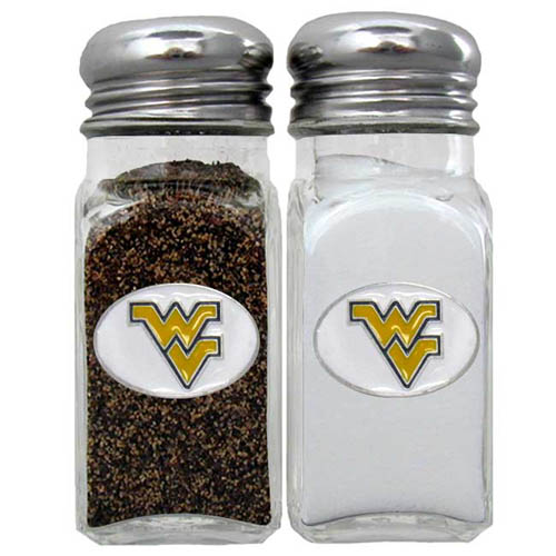 Salt & Pepper Shakers - W. Virginia Mountaineers - Our collegiate salt and pepper set is a great addition to any tailgating event or backyard BBQ. Thank you for shopping with CrazedOutSports.com