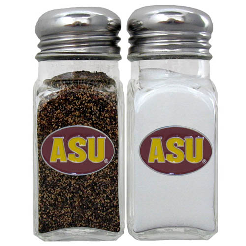 Salt & Pepper Shakers - Arizona St. Sun Devils - Our Arizona State Sun Devils collegiate salt and pepper set is a great addition to any tailgating event or backyard BBQ. Thank you for shopping with CrazedOutSports.com