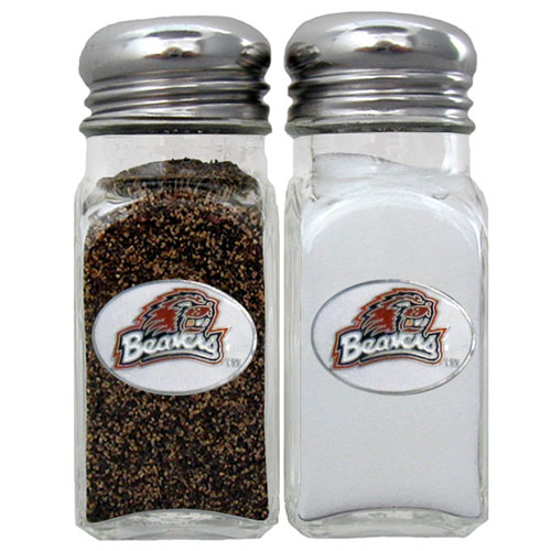Salt & Pepper Shakers - Oregon St. Beavers - Our collegiate salt and pepper set is a great addition to any tailgating event or backyard BBQ. Thank you for shopping with CrazedOutSports.com