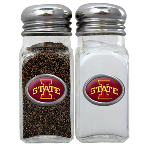 Salt & Pepper Shakers - Iowa St. Cyclones - This Iowa St. Cyclones collegiate salt and pepper set is a great addition to any tailgating event or backyard BBQ. Thank you for shopping with CrazedOutSports.com