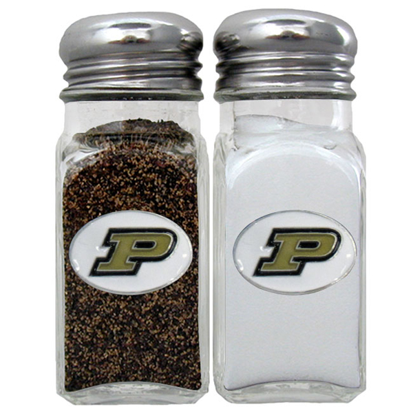 Purdue Boilermakers Salt & Pepper Shaker - Our diner replica salt and pepper shakers are the perfect addition to any tailgating or homegating event! The glass shakers have screw on metal tops and feature the Purdue Boilermakers logo on each shaker