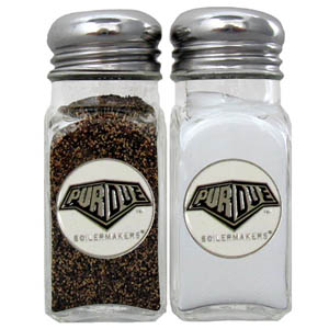 Purdue Salt & Pepper Shakers - Our diner relica glass salt and pepper shaker sets feature fully cast & enameled Purdue emblem on each shaker. They are the perfect addition to any outdoor event or indoor get together. Thank you for shopping with CrazedOutSports.com