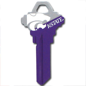 Schlage Key - Kansas State Wildcats - Kansas St. Wildcats College house keys are a great way to show school spirit while keeping keys organized. Kansas St. Wildcats Keys can be cut to fit your home or office Schlage keys (reference pre-fix CQK for Kwikset keys).  Thank you for shopping with CrazedOutSports.com