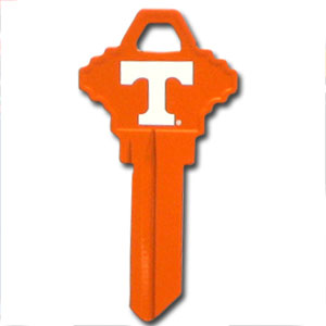 Schlage Key - Tennessee Volunteers - College house keys are a great way to show school spirit while keeping keys organized. Keys can be cut to fit your home or office Schlage keys (reference pre-fix CQK for Kwikset keys).  Thank you for shopping with CrazedOutSports.com