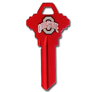 Schlage Key -  Ohio State Buckeyes - College house keys are a great way to show school spirit while keeping keys organized. Keys can be cut to fit your home or office Schlage keys (reference pre-fix CQK for Kwikset keys).  Thank you for shopping with CrazedOutSports.com