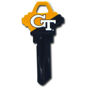 Schlage Key - Georgia Tech Yellow Jackets - Georgia Tech Yellow Jackets College house keys are a great way to show Georgia Tech Yellow Jackets school spirit while keeping keys organized. Keys can be cut to fit your home or office Schlage keys (reference pre-fix CQK for Kwikset keys).  Thank you for shopping with CrazedOutSports.com