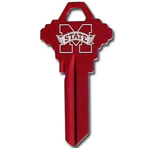 Schlage Key - Mississippi State Bulldogs - College house keys are a great way to show school spirit while keeping keys organized. Keys can be cut to fit your home or office Schlage keys (reference pre-fix CQK for Kwikset keys).  Thank you for shopping with CrazedOutSports.com