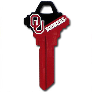 Schlage Key - Oklahoma Sooners - College house keys are a great way to show school spirit while keeping keys organized. Keys can be cut to fit your home or office Schlage keys (reference pre-fix CQK for Kwikset keys).  Thank you for shopping with CrazedOutSports.com