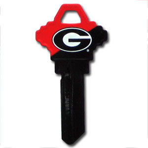 Schlage Key - Georgia Bulldogs - Georgia Bulldogs College house keys are a great way to show Georgia Bulldogs school spirit while keeping keys organized. Georgia Bulldogs Schlage House Keys can be cut to fit your home or office Schlage keys (reference pre-fix CQK for Kwikset keys).  Thank you for shopping with CrazedOutSports.com