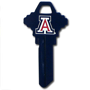 Schlage Key - Arizona Wildcats - Arizona Wildcats College house keys are a great way to show school spirit while keeping keys organized. Keys can be cut to fit your home or office Schlage keys (reference pre-fix CQK for Kwikset keys).  Thank you for shopping with CrazedOutSports.com